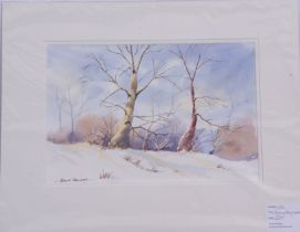 Frank Halliday (British, 20th century), A group of three winter landscapes, individually signed
