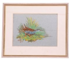 Roland Green (British, 20th century), A study of a Water Rail in profile, watercolour, signed, 7 x