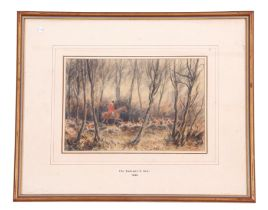G A Short (British, 19th century), 'The Badsworth Hunt 1023', watercolour, signed, 9 x 11ins
