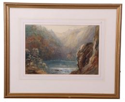 Thomas Mower Martin (British/Canadian 19th Century), A Mountain pool, watercolour, signed, 8 x