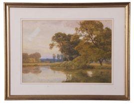 Thomas Pyne (British 19th Century), Stour near Flatford, watercolour and gouache, 9 x 13ins