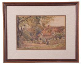 E.A.O. Jones (British 20th Century) Cottage at Bisham, Berkshire, watercolour, signed, 9 x 13ins
