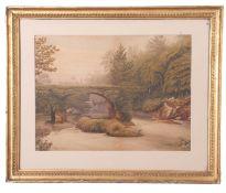 Alfred S Watson (British 19/20th Century), Cromwell's Bridge, Glengariff, Ireland , watercolour,