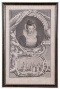Jacobus Houbraken (Flemish 18th Century), after Isaac Oliver (British 16th Century) Portrait of