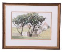 John Hunt (British 20th Century), Norwich interest, Bishops Bridge and Castle Acre , pencil,