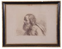 Francesco Bartolozzi (Italian 18th Century), after Guercino (Italian 17th Century) Head of an old
