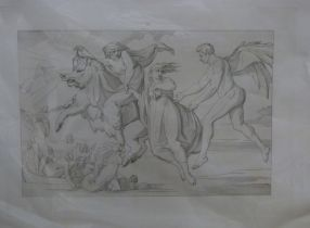 Heinrich Merz (Swiss, 19th Century) after Bonaventura Genelli (German 19th Century), A pair of