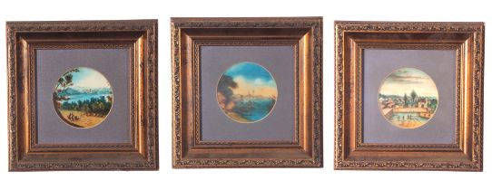 A set of unusual Continental landscapes with architectural and marine interest, late 19th/early 20th