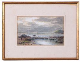 Charles Nicholls Woolnoth (British 19th Century), Bay of Fleet, Gatehouse, Scotland, watercolour,