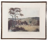After Dean Wolstenholme (British late 18th Century), Sporting prints (2), handcoloured engraving, 13