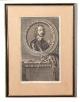 Pierre Drevet (French, 17th Century), after Van der Werf (Flemish 17th Century) Portrait of Oliver
