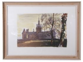 Edwin La Dell RA (British 20th Century) Fettes College, Edinburgh, Limited edition colour
