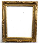 Rectangular gilt picture frame, approx 28 x 24ins