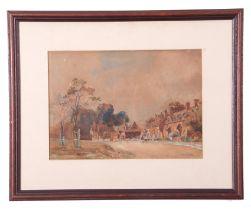 Leonard Ward (British 20th Century), Villiage of Arrow near Birmingham 1870, watercolour, signed, 13
