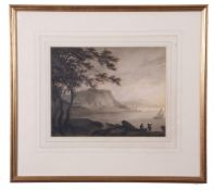Attributed to William Payne (British, late 18th Century) A coastal scene , watercolour, 8 x 11ins
