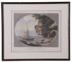 After John Kitchingman (British 18th Century), Oval smuggling scenes (2), hand coloured engraving,