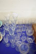 COLLECTION OF EDWARDIAN AND LATER CLEAR DRINKING GLASSES