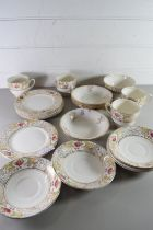 QTY OF PALLASEY FLORAL DECORATED TEA WARES