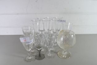 QTY OF MIXED DRINKING GLASSES