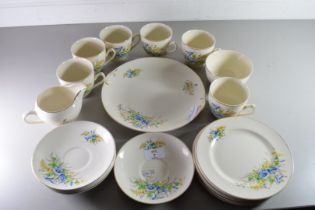QTY OF GRENVILLE WARE FLORAL DECORATED TEA WARES