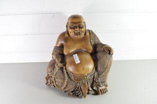 HARDWOOD MODEL BUDDHA