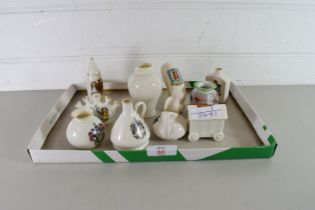COLLECTION OF CRESTED CHINA WARES TO INCLUDE W H GOSS AND OTHERS
