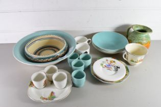MIXED LOT COMPRISING VARIOUS POOLE POTTERY BOWLS, EGG CUPS ETC