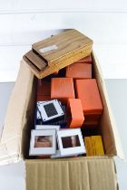 BOX CONTAINING PHOTOGRAPHIC NEGATIVES OF MOTOR RACING
