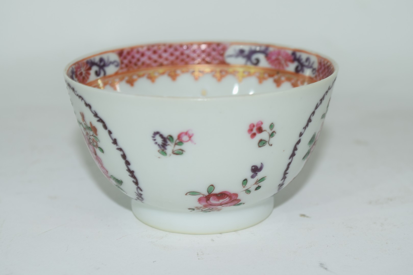 Continental porcelain cup and saucer decorated in Meissen style - Image 4 of 6