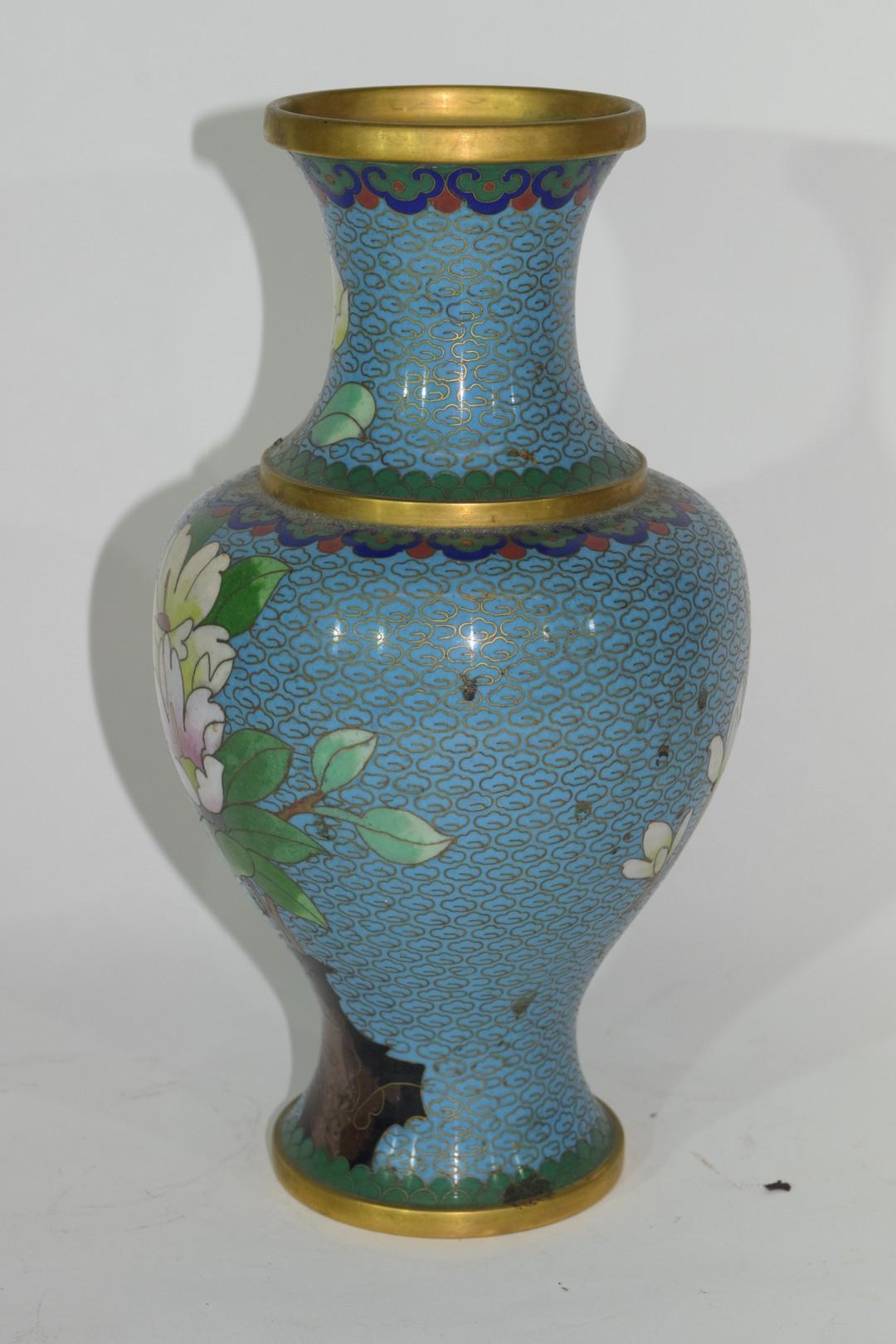 Cloisonne vase - Image 2 of 4