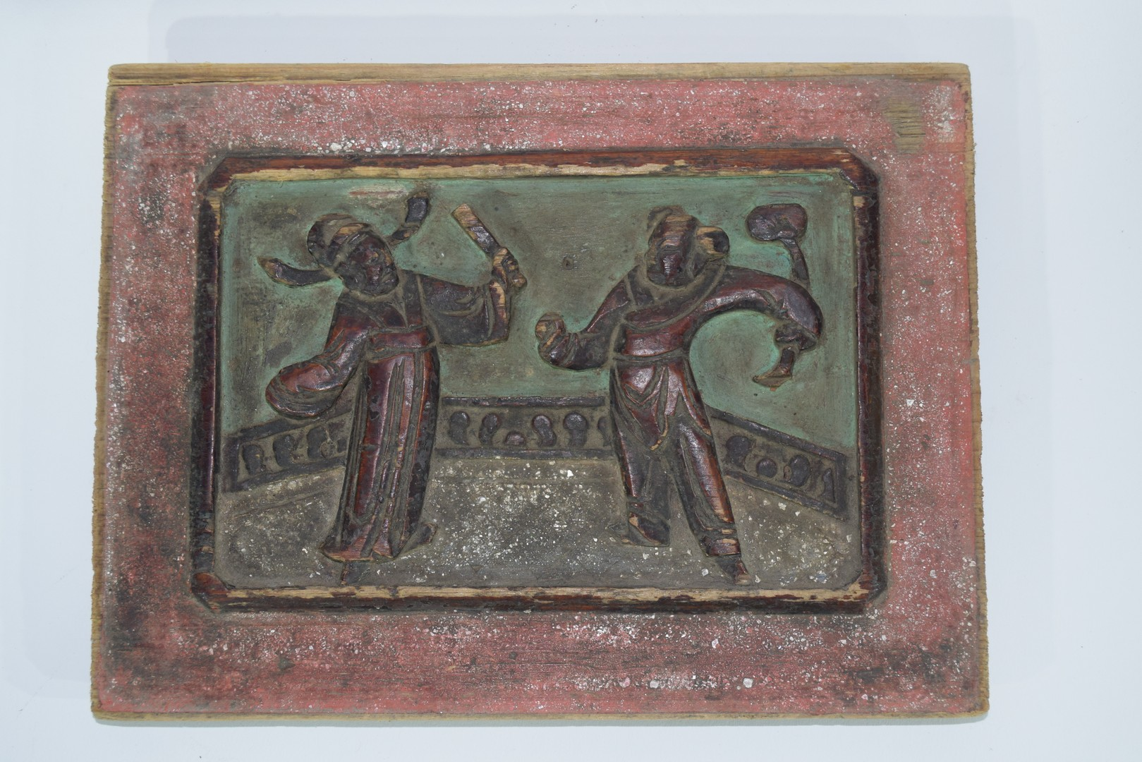 Group of seven Oriental wooden panels - Image 2 of 16