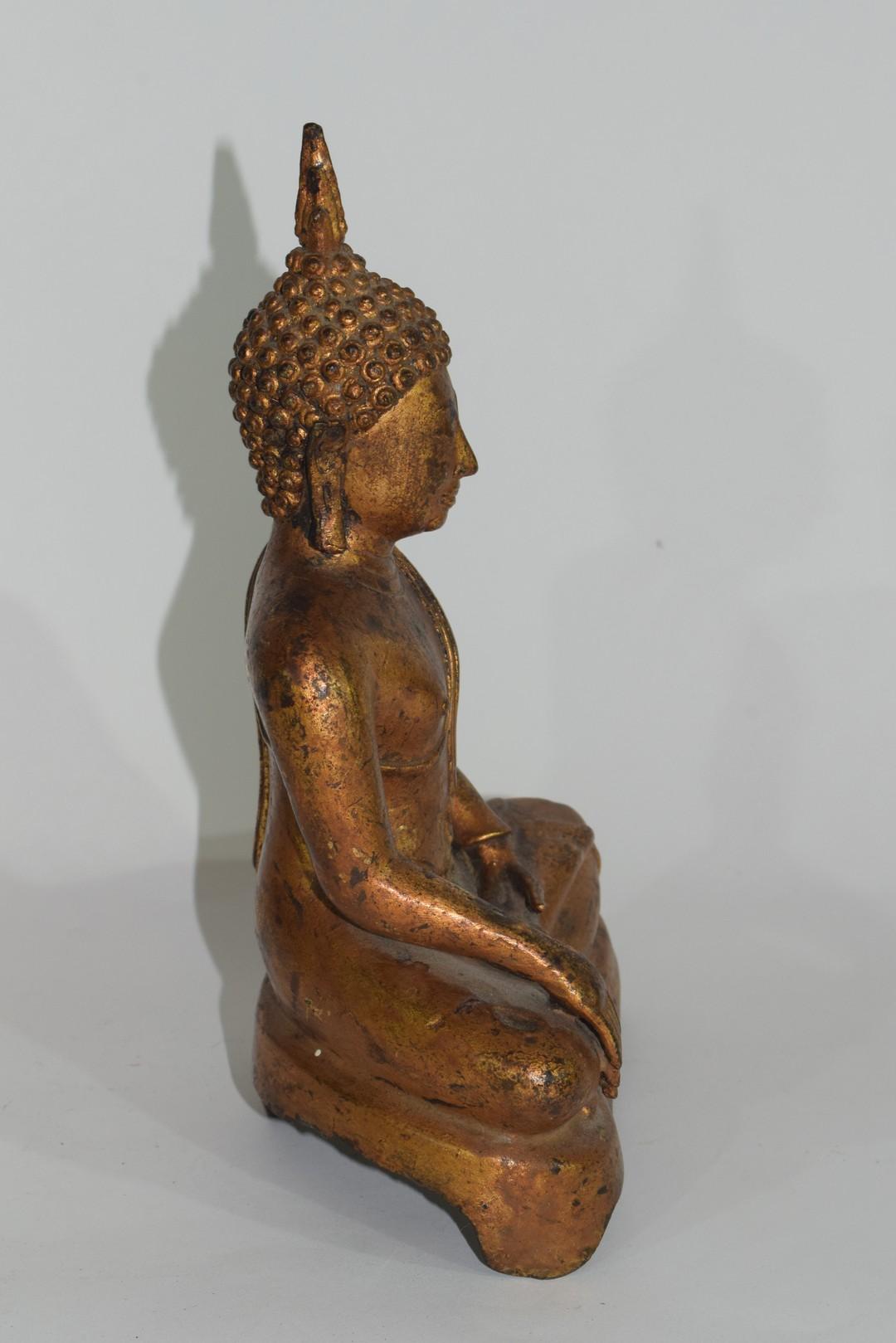 Metal figure of a Buddha - Image 4 of 6