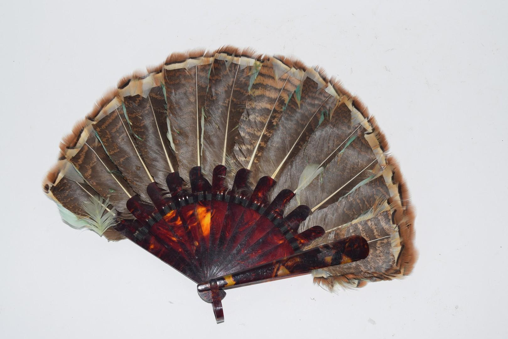 Bird Feather Fan - Image 2 of 2