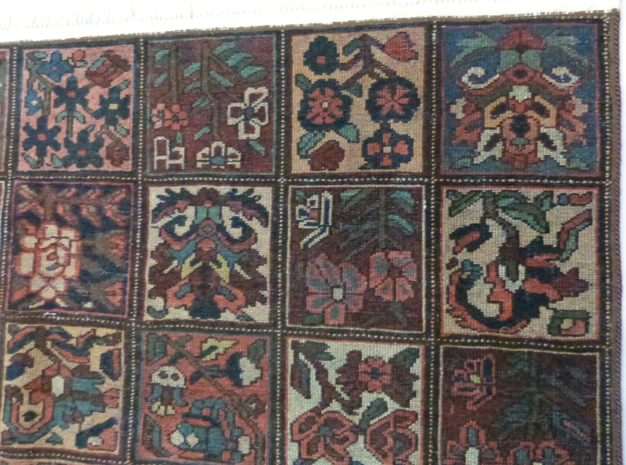 Vintage Persian Baktia Carpet, with all-over panelled design 260cm x 167cm approximately - Image 5 of 7