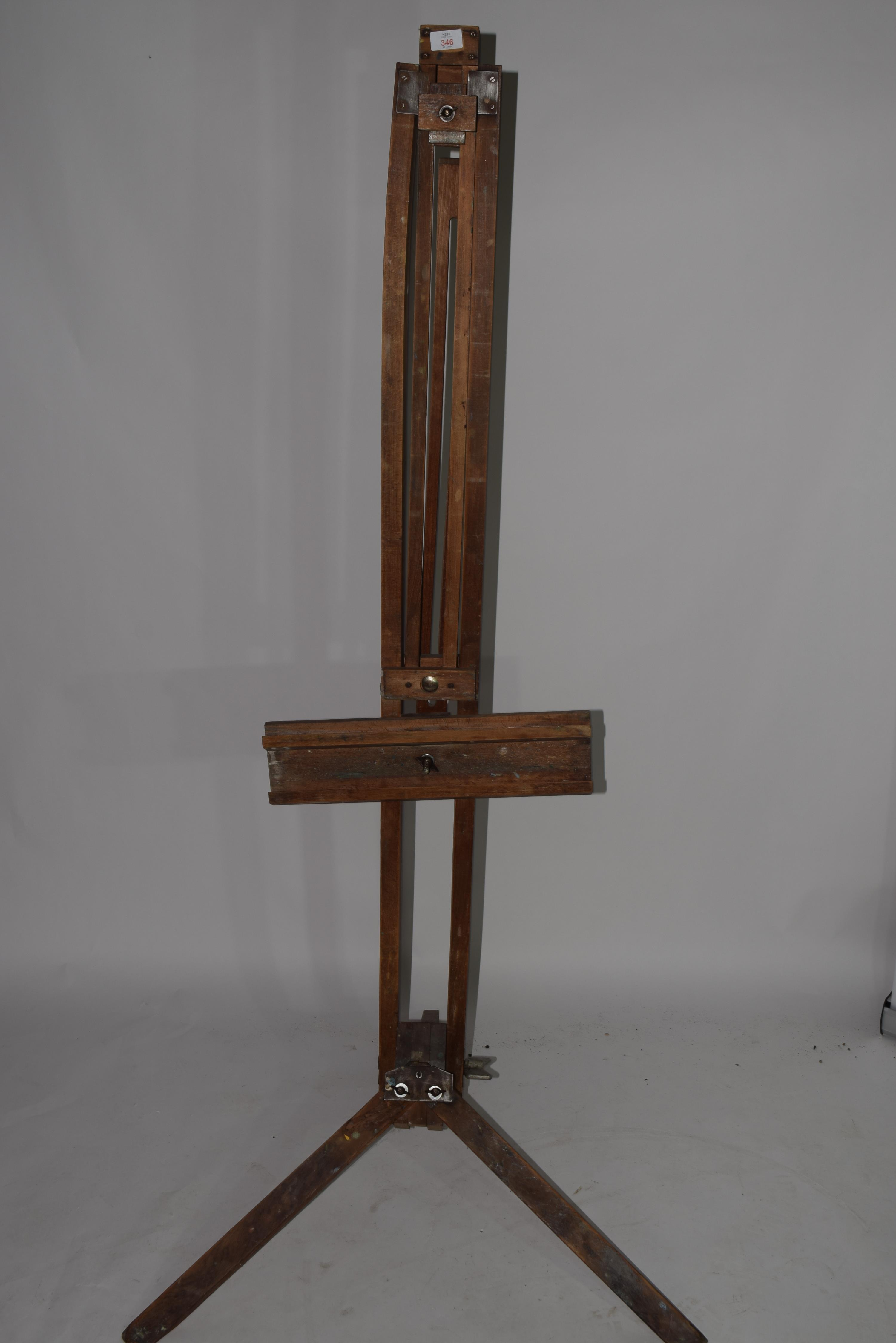 Folding wooden artists easel - Image 2 of 3