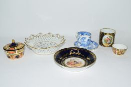 Group of Continental porcelains including a Vienna style cup and saucer