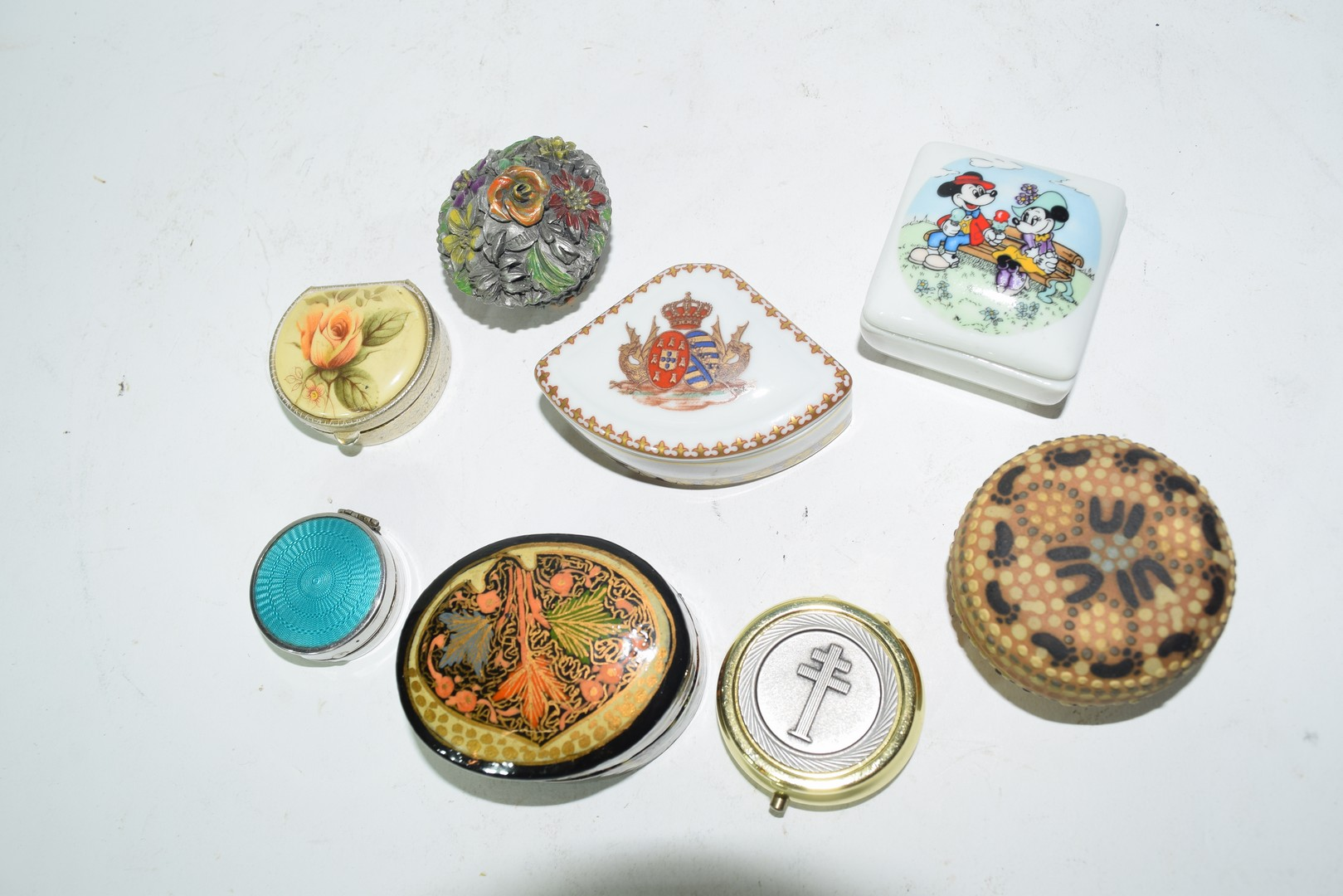 Mixed lot of small pill boxes and trinket boxes - Image 3 of 5