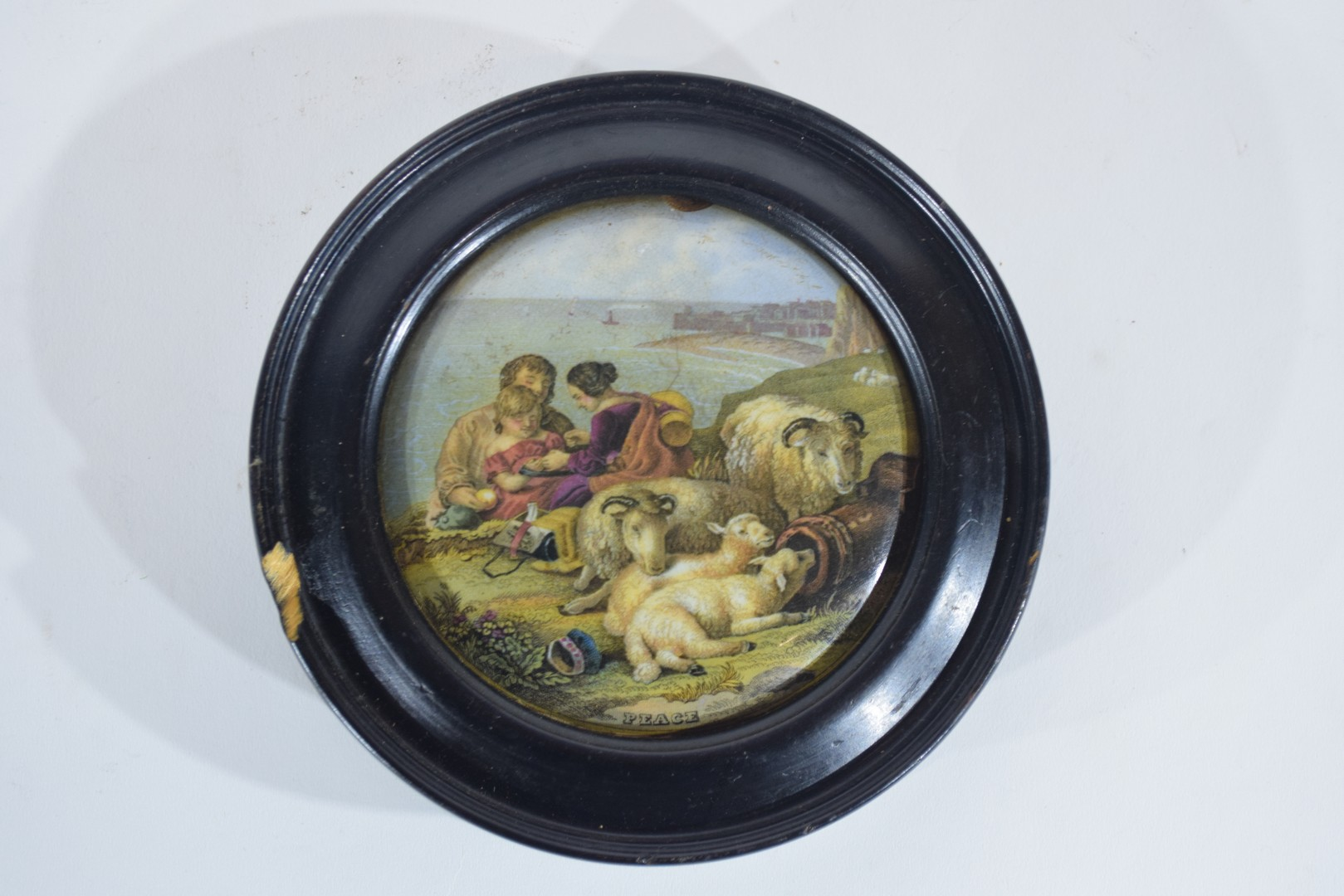 Group of pot lids on wooden mounts - Image 7 of 7