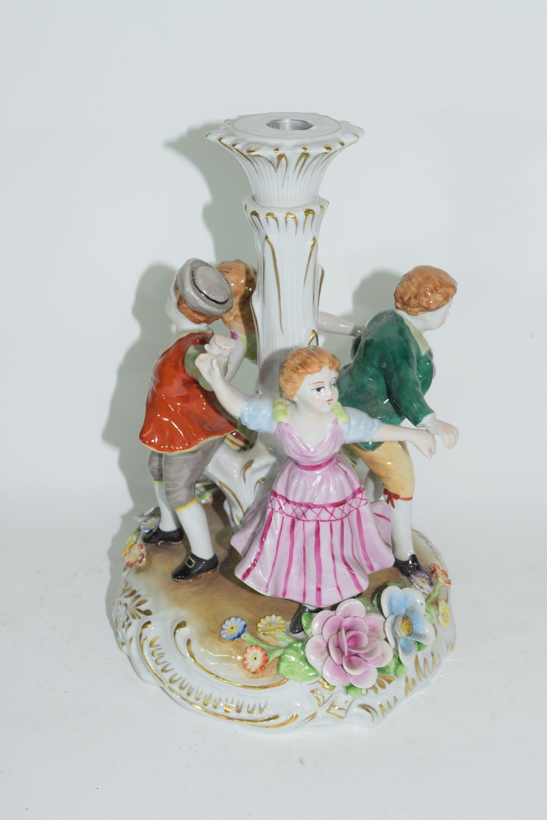 Continental porcelain candlestick in Meissen style - Image 3 of 4