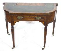 Late 19th century walnut veneered writing desk