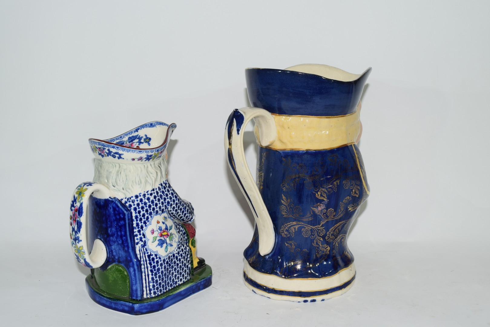 Two English pottery Staffordshire type Toby jugs - Image 3 of 6