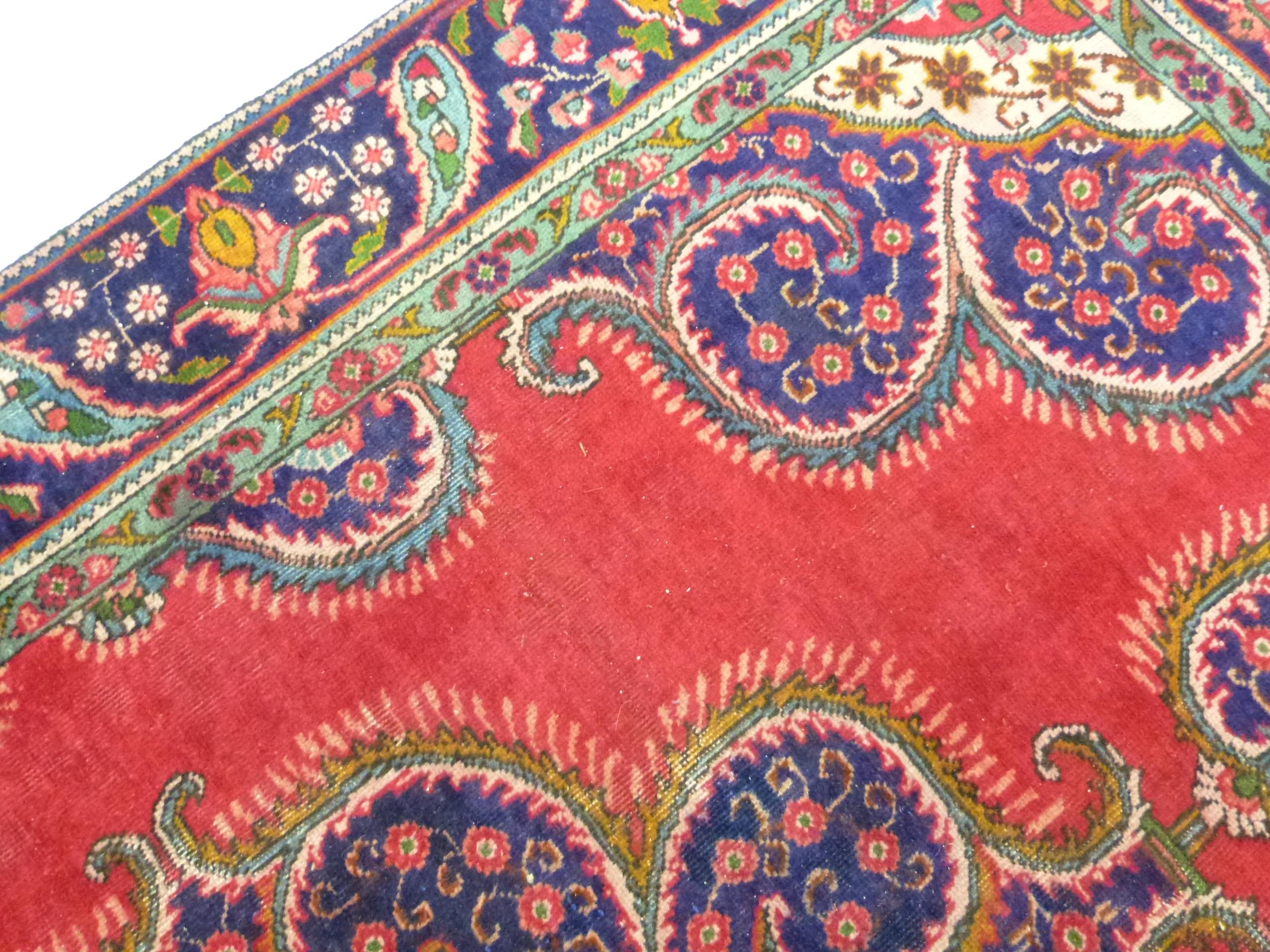 Deep ground thick pile Persian Narouan Carpet,decorated with various motifs & symbols 276cm x - Image 5 of 9