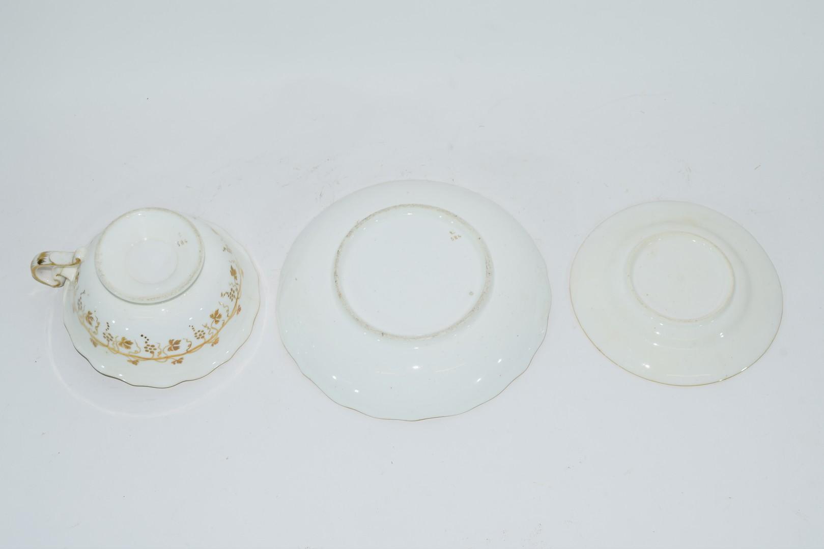 English porcelain trio - Image 3 of 3