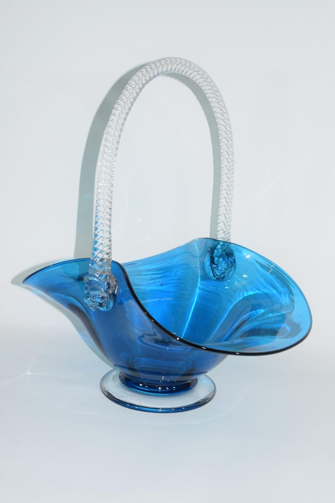 Large glass basket - Image 2 of 7