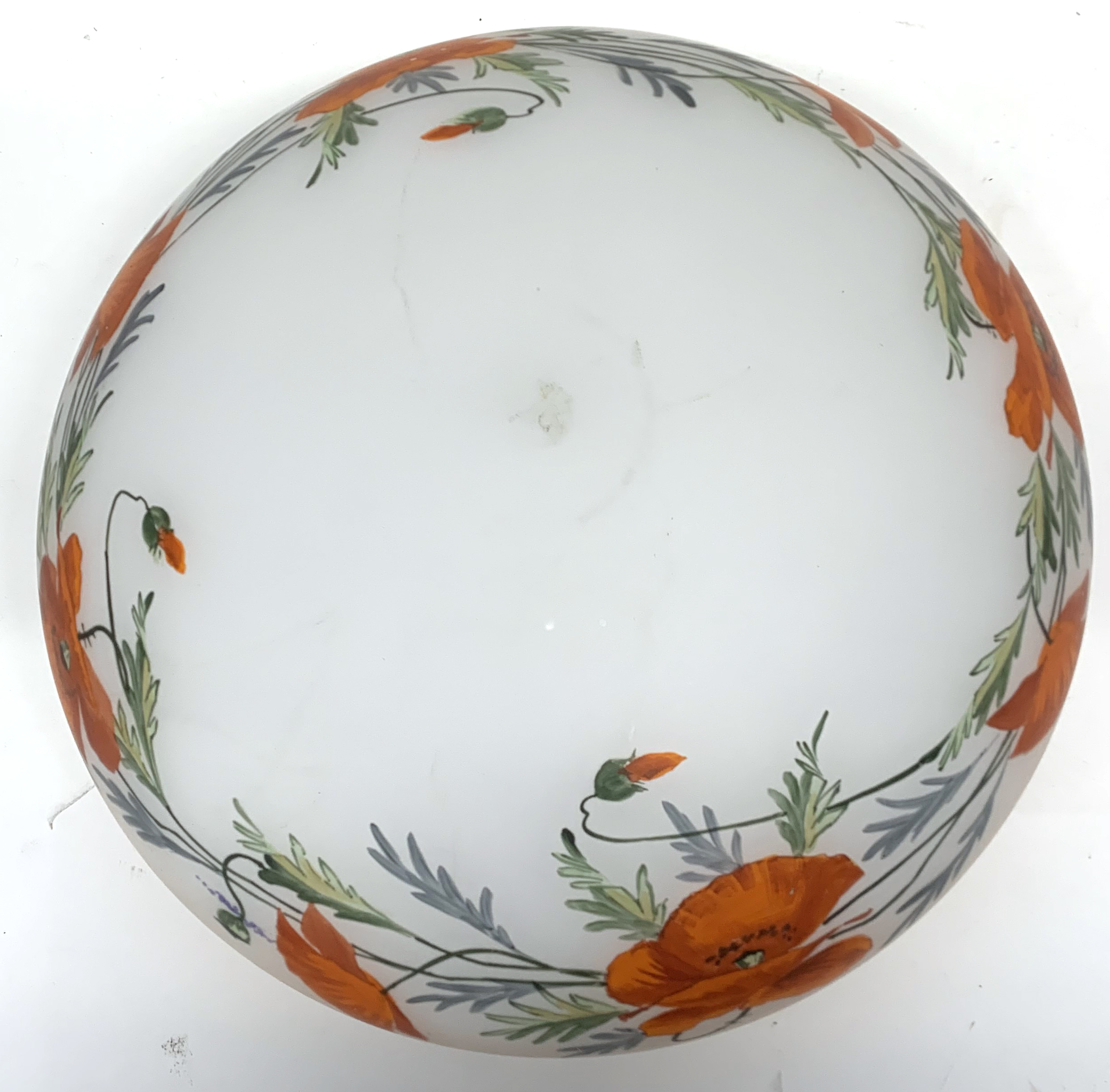 A large early 20th century glass light shade. - Image 5 of 6
