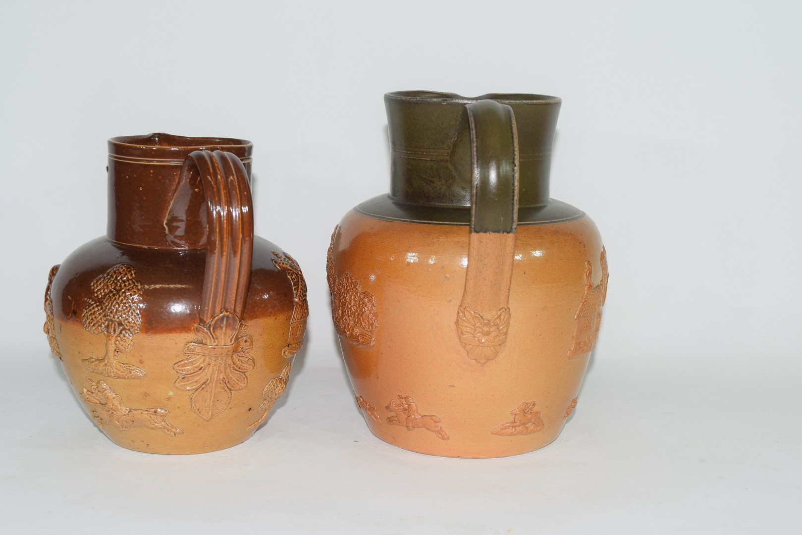 Doulton Lambeth brown harvest ware jug and one other - Image 2 of 8