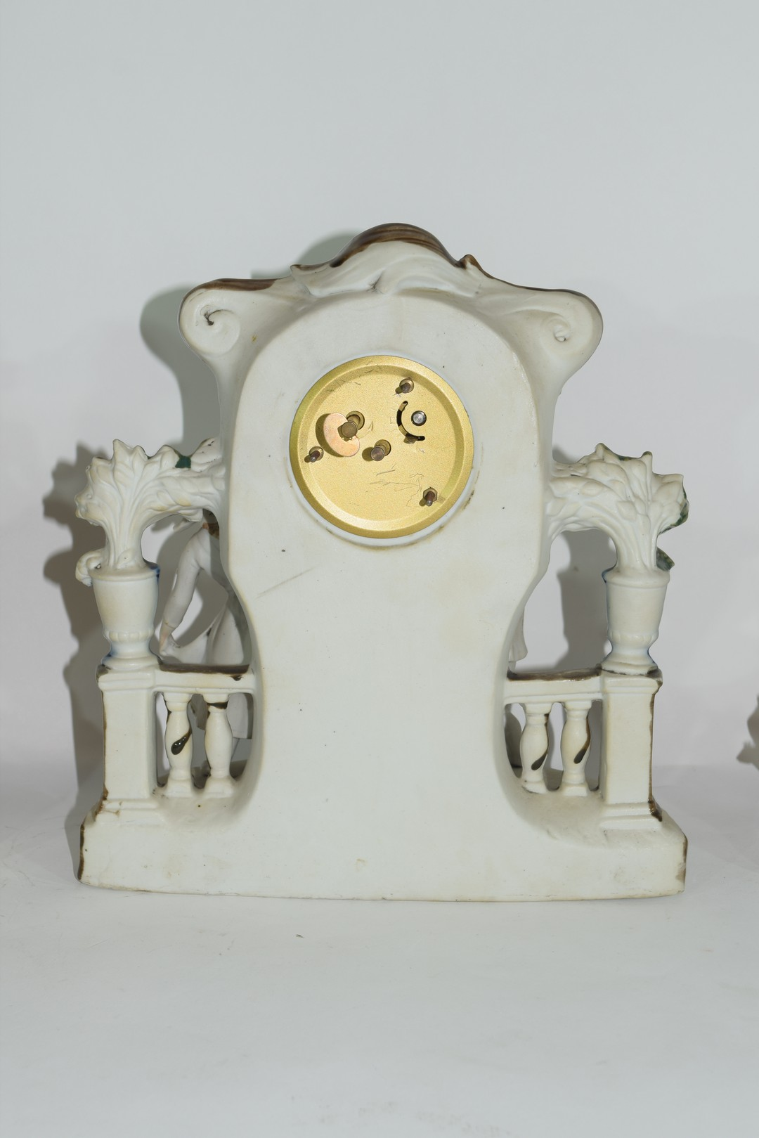 Three examples of Continental porcelain clock mantel cases - Image 8 of 9