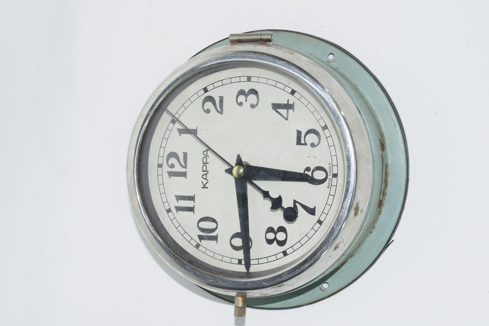 Large ship's clock - Image 2 of 5