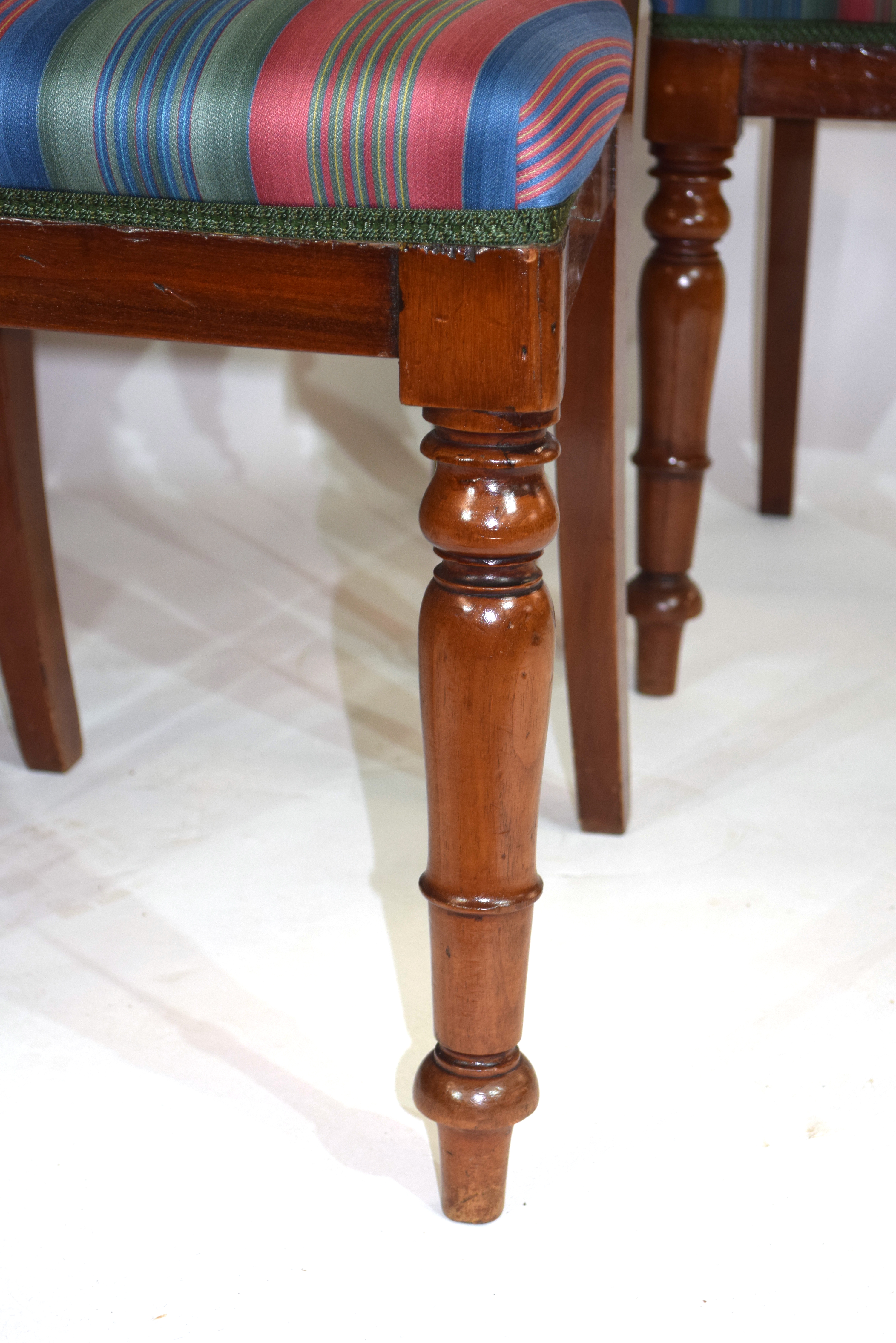 Set of six Victorian mahogany bar back dining chairs, comprising one carver and five single chairs - Image 3 of 5