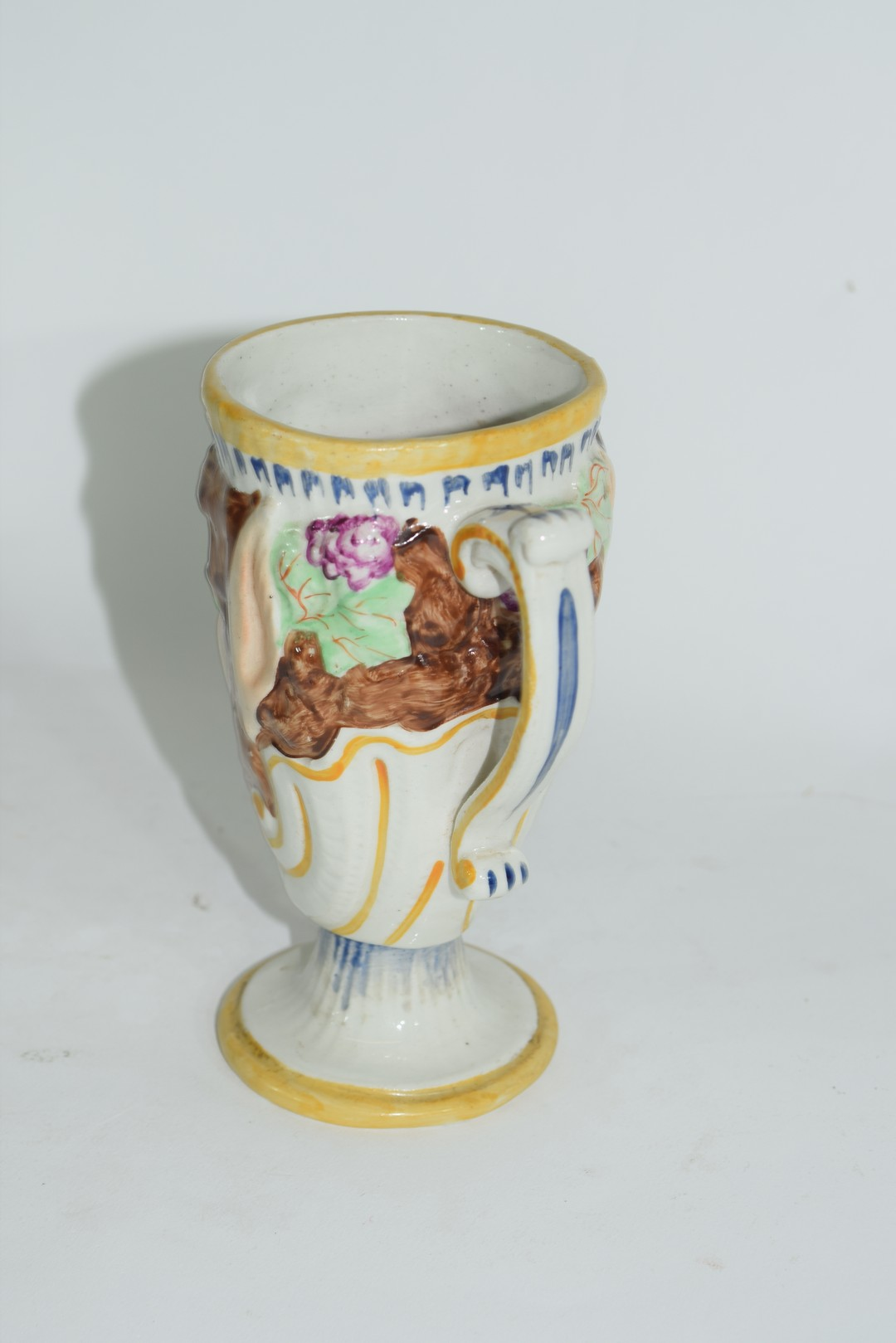 Late 19th century pearlware frog mug - Image 2 of 5